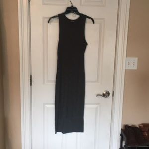 Express Charcoal Dress with Keyholes